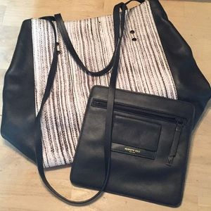 KENNETH COLE Snakeskin Ltr Tote Crossbody $348 NEW